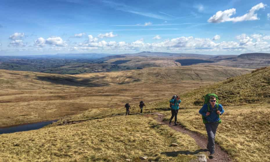 Walkers on the Cambrian Way.