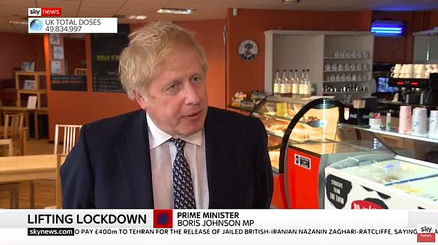 Boris Johnson today revealed there is a 'good chance' that current social distancing rules will be scrapped on June 21