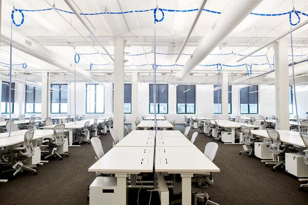 Office space for Instagram, which is owned by Facebook. Facebook has expanded Manhattan.