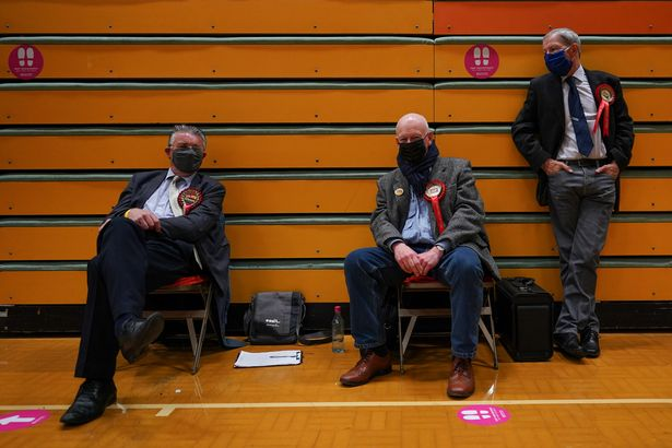 Labour supporters await the result