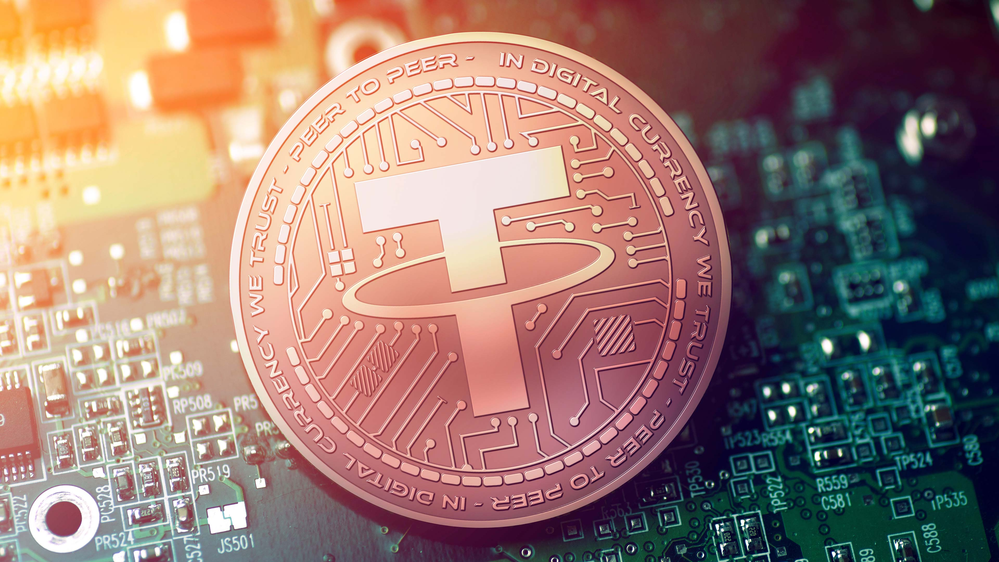Top cryptocurrency listed — Tether