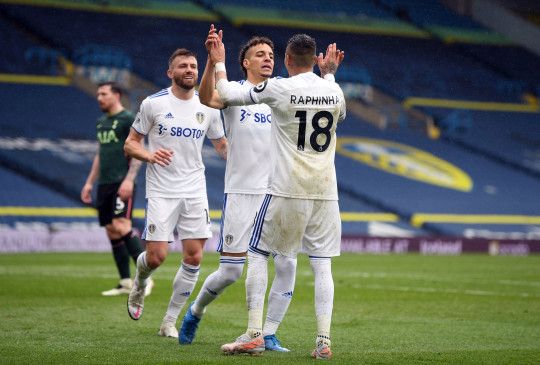 Rodrigo rounded off an excellent move to secure Leeds' 3-1 win over Spurs