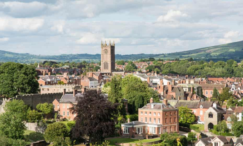 Ludlow and the Clee Hills beyond.