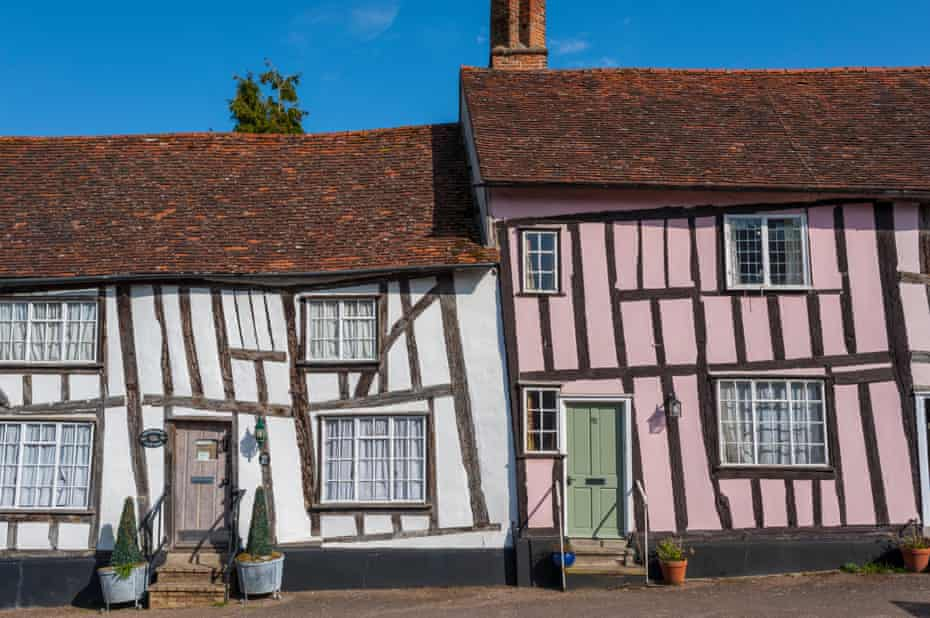 Half Timbered houses in Lavenham Suffolk