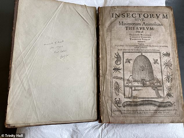 Head librarian Jenni Lecky-Thompson made the discovery in the title called Theatre of Insects