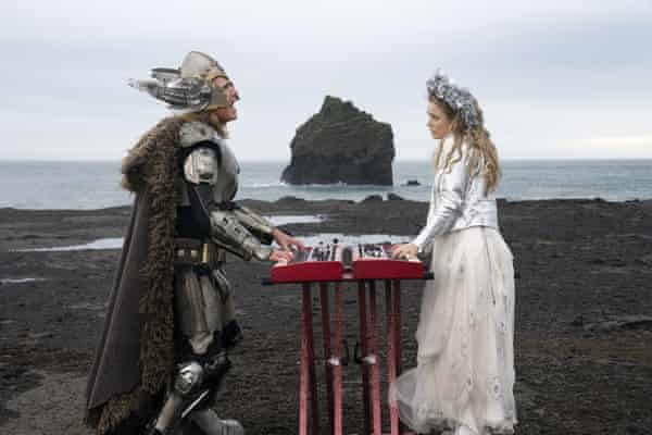 Will Ferrell, left, and Rachel McAdams in a scene from Eurovision Song Contest: The Story of Fire Saga. Húsavík (My Hometown), a song from the film, was nominated for a 2021 best original song Oscar.