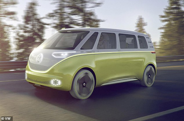 A conventional manned version of the electric microbus is expected to go on sale in Germany next year and in the US in 2023