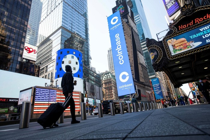 The Nasdaq MarketSite in New York. The technology-heavy Nasdaq Composite was among the indices to fall in response to this week's inflation data