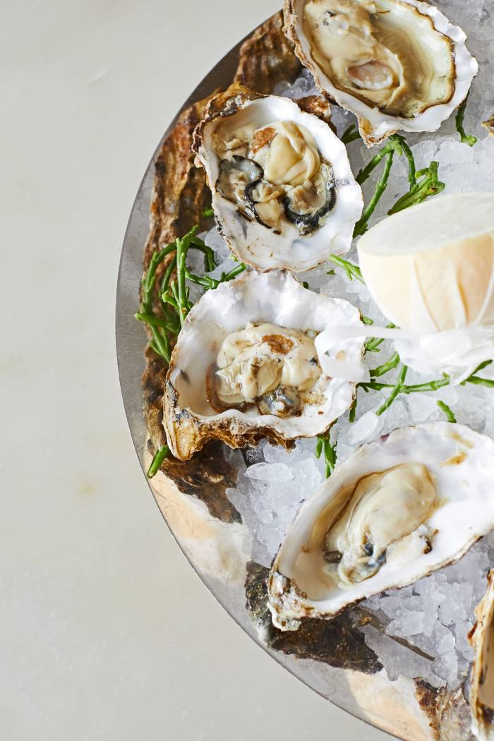 An oyster platter at Sea Containers