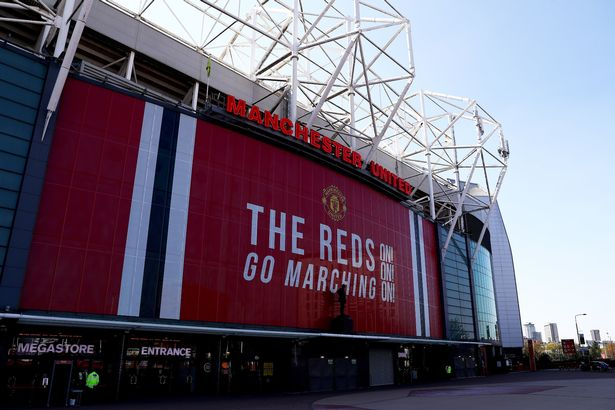 An exterior general view of Old Trafford in Manchester