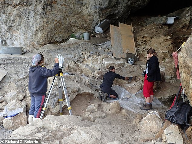 This showsChagyrskaya cave in the Altai Mountains in Russia, where researchers also found more Neanderthal DNA via cave dust or sediment