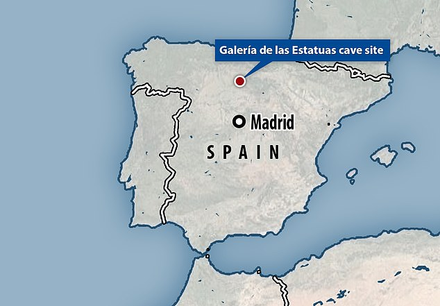 The Galeria de las Estatuas cave site is located in Burgos, Spain. As far back as the mid 19th century, researchers combed the site for historical finds