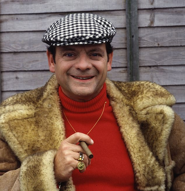 Not a good password option: Security experts at Nexor say 'Only Fools and Horses' is a risky choice. Pictured,David Jason as Derek 'Del Boy' Trotter in Only Fools and Horses