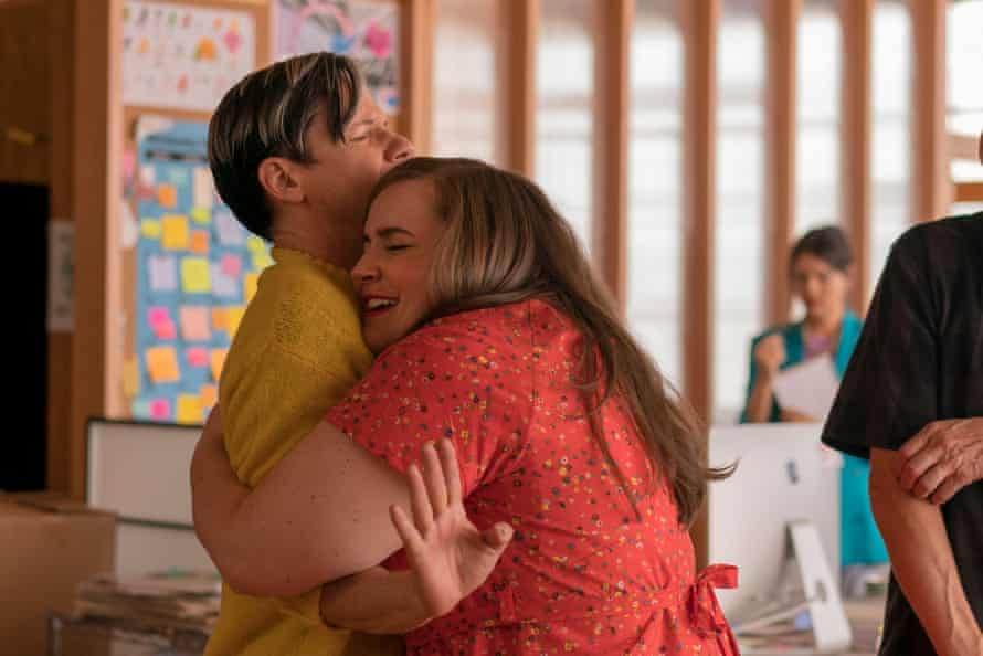 John Cameron Mitchell as Gabe and Aidy Bryant.