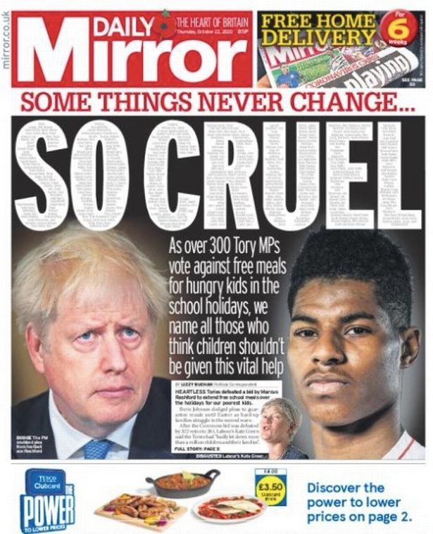 The Mirror's coverage of the issue