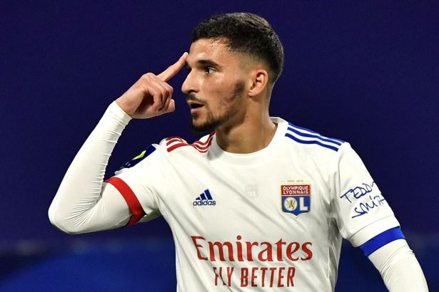 Lyon midfielder Houssem Aouar refused to rule out a move this summer