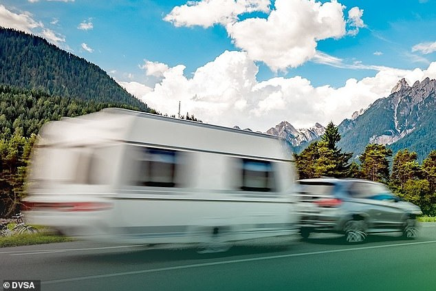 DVSA records show that around one in six caravans have a serious safety problem, while nearly two in five small trailers stopped at the roadside and checked showed dangerous issues