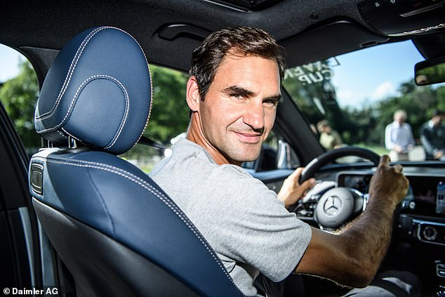 Roger Federer has been an ambassador for the German car maker since 2008 - and most recently extending his contract with Mercedes in 2018