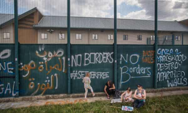 The controversial Yarl's Wood detention centre in Bedfordshire.