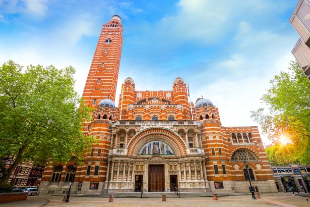 The service was held at Westminster Cathedral at around 1.30pm yesterday (file image)