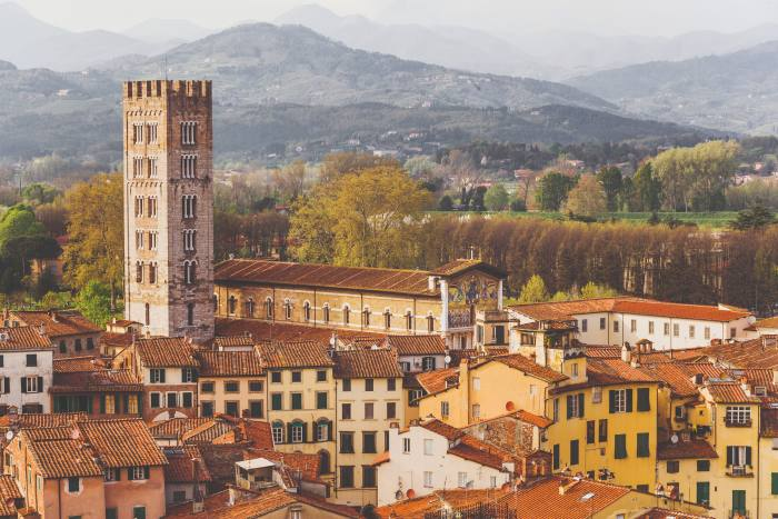 The city of Lucca in Tuscany