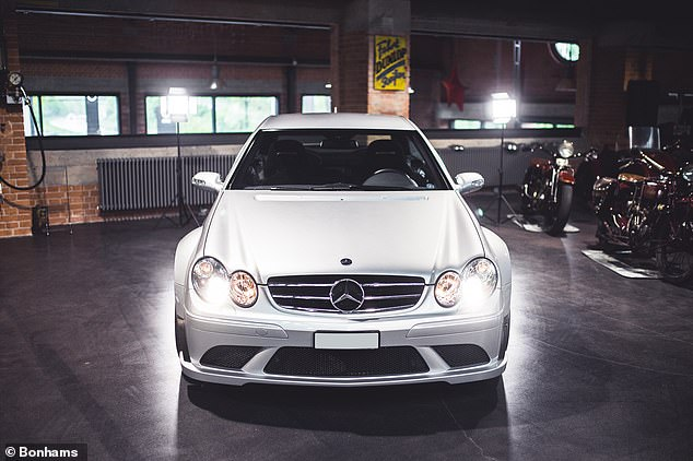 An ace car: A 2009 Mercedes-Benz CLK63 AMG Black Series first owned by tennis star Roger Federer is going under the hammer next month