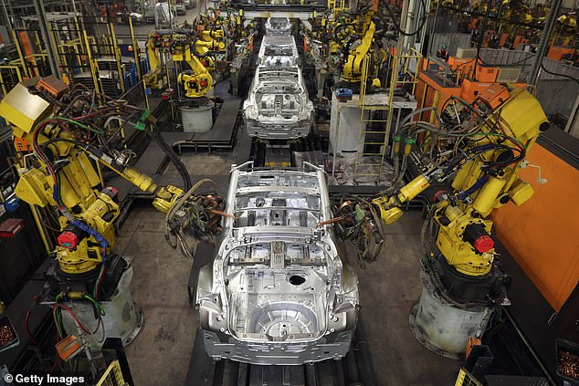 Rebound: UK outputs of new cars in April were just 3.5% down on production in April 2019, with last year's figures not applicable given that factories were forced to close during the first national Covid-19 lockdown