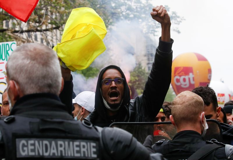 Arrests in Paris as thousands join May Day protests across France