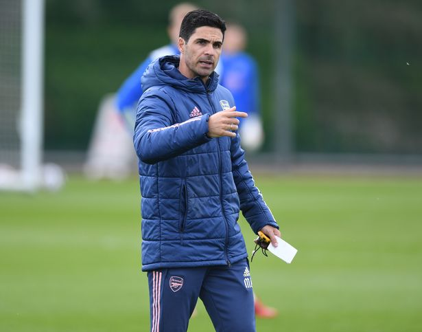 ST ALBANS, ENGLAND - MAY 11: Arsenal manager Mikel Arteta during a training session at London Colney on May 11, 2021 in St Albans, England. (Photo by Stuart MacFarlane/Arsenal FC via Getty Images)