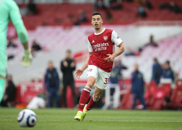 Gabriel Martinelli in action for Arsenal earlier in the season