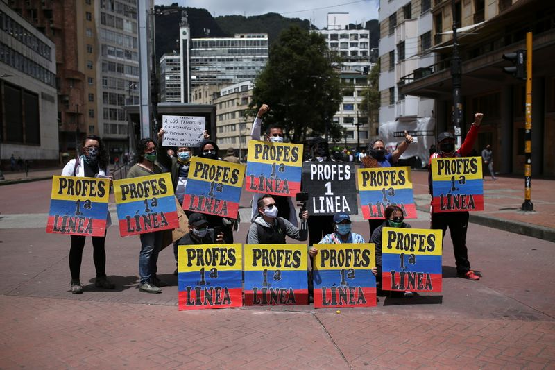 Colombian protesters march on capitals demanding economic aid, social change