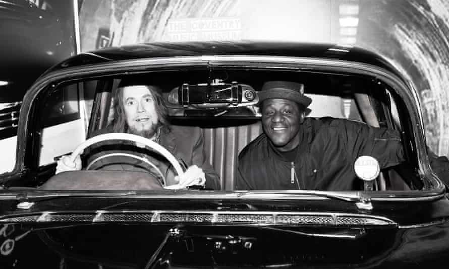 Jerry Dammers (left) and Neville Staple in the Ghost Town car at the Coventry Music Museum.