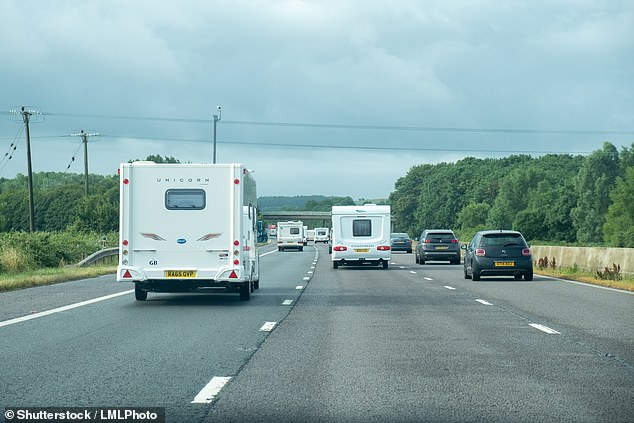 Carry on camping - but only when it's safe to do so: DVSA says it will be targeting caravan drivers this weekend with roadside checks to ensure their mobile homes are safe