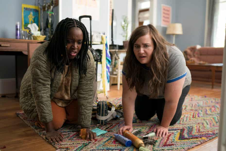 Lolly Adefope and Aidy Bryant in Shrill.