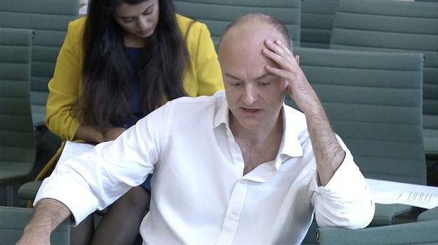 Dominic Cummings giving his evidence yesterday