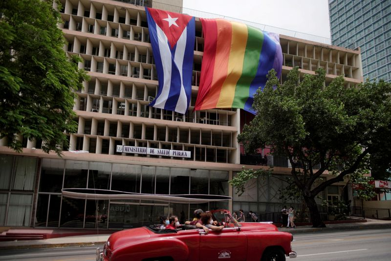 Havana dons giant rainbow flags in key year for Cuban LGBT+ rights