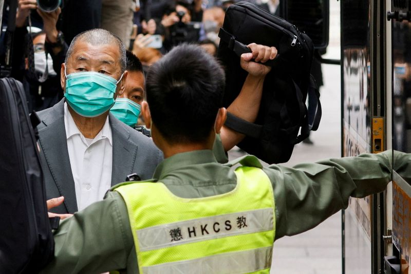 Jailed HK media tycoon Jimmy Lai faces new sentence over illegal assembly