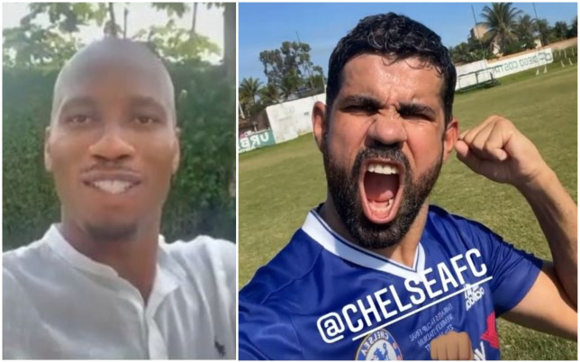 Didier Drogba and Diego Costa sent messages of support to Chelsea ahead of the Champions League final
