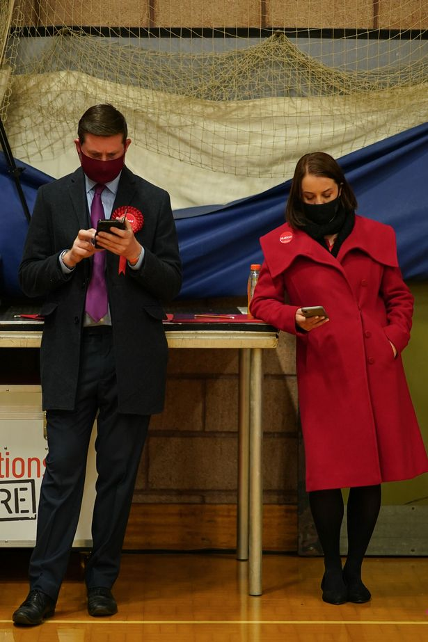 The counting process is likely to go on for several more hours - but hope is fading for Labour