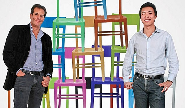 Windfall: Lastminute.com entrepreneur Brent Hoberman, left, started the company in 2010 with Ning Li, right, Chloe Macintosh and Julien Callede