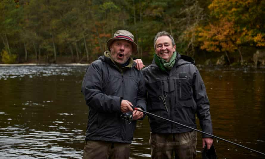 Bob Mortimer and Paul Whitehouse in the hit show Gone Fishing.