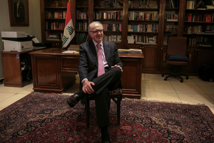 Ali Allawi, Iraq's finance minister, says thatif the country — which has 145bn barrels of proven crude reserves — stays dependent on oil, 'it could be catastrophic'