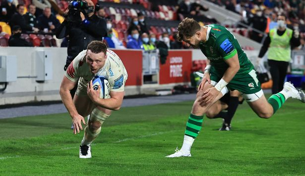 Simmonds completes his try hat-trick at London Irish