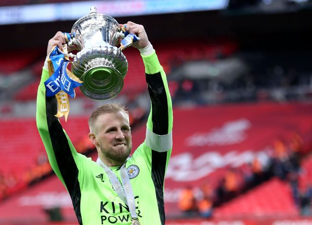 Kasper Schmeichel helped Leicester win their first FA Cup
