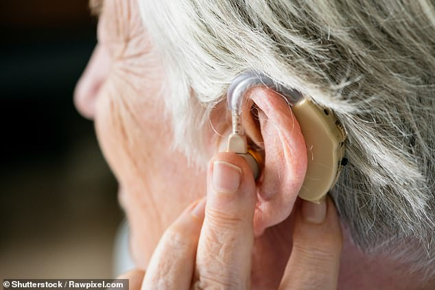 One adult in six suffers hearing loss and the majority are over the age of 60, picture posed by model