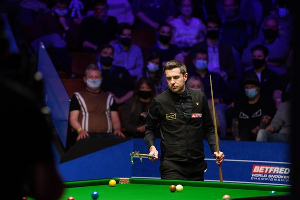 The World Snooker Championship in Sheffield was also part of the trial