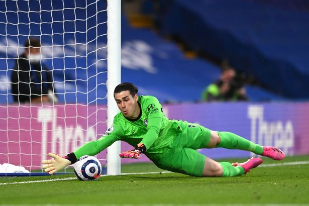Kepa scrambled to clear Jorginho's errant backpass off the line, only for Arsenal to score straight after