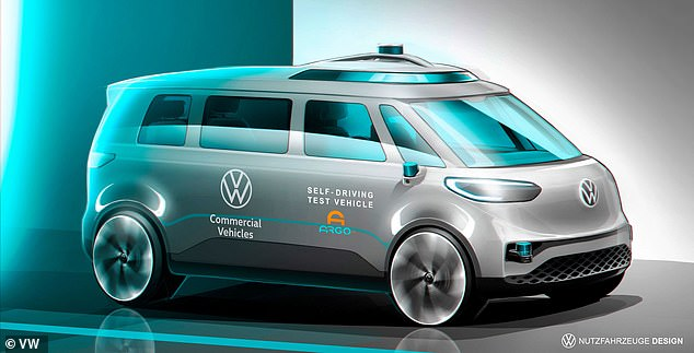 Volkswagen will test an autonomous version of its electric minibus ID.Buzz in six US cities this summer. The company hopes to add the vehicle to the fleet used in its ride-share app MOIA by 2025