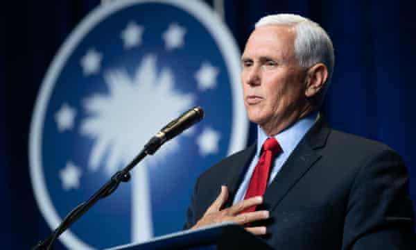 Mike Pence speaks on 29 April 29 in Columbia, South Carolina.