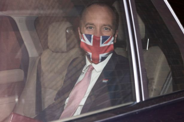 Secretary of State for Health and Social Care Matt Hancock leaves the department of Health for the House of Commons on June 16, 2021 in London, England